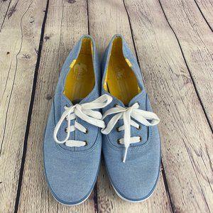 Keds Women's Lace Up Blue Canvas Sneaker Shoes